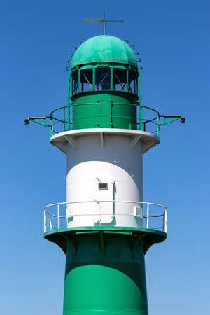 starboard breakwater light in Warnemünde, Germany