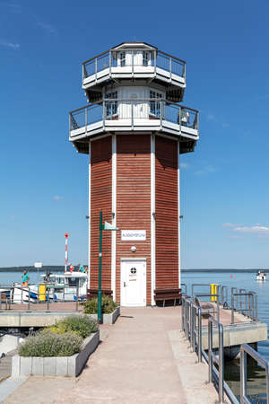 observation tower in the harbor of Plau am See, Germany