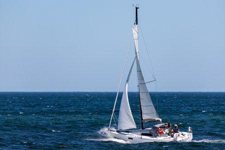 sailing boat on the Baltic Sea