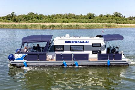 water camper of Müritzboot on the Lake Plau, Germany