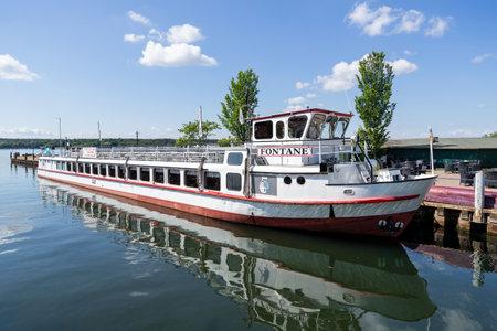 excursion boat FONTANE of Weisse Flotte Müritz in Waren (Müritz), Germany