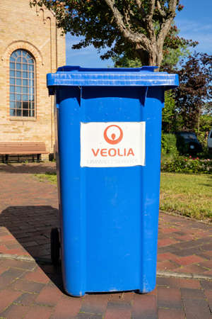 Veolia waste container. Veolia is a French transnational company with activities in water management, waste management and energy services. Éditoriale