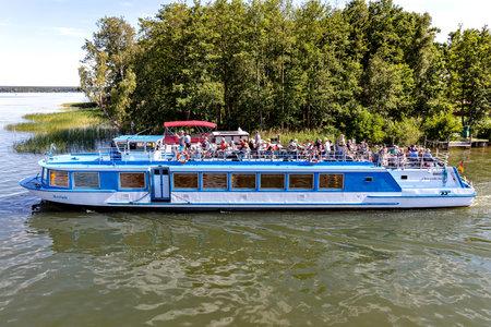 excursion boat SEELUST of Fahrgastschifffahrt Wichmann in Plau am See, Germany