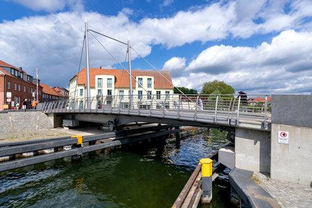 closed swing bridge in Malchow, Germany