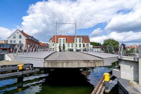 rotating swing bridge in Malchow, Germany