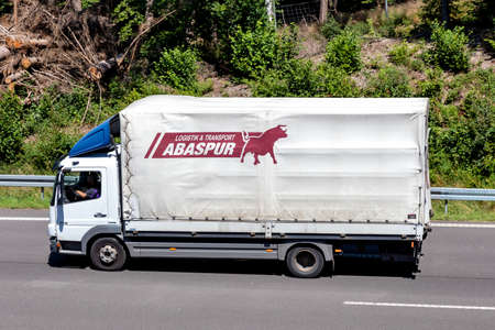Abaspur Mercedes-Benz Atego truck on motorway.