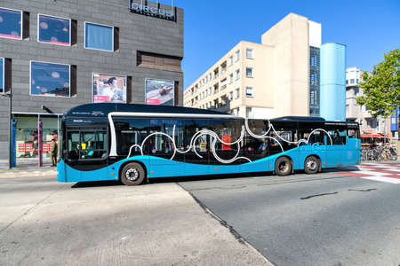 Keolis allGo MAN Lion's City bus in Almere, The Netherlands.
