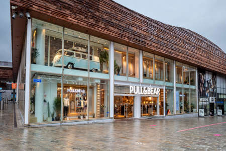 Pull&Bear branch in Almere, The Netherlands. Pull&Bear is a Spanish clothing and accessories retailer and a part of Inditex, owner of Zara and Oysho brands. Editoriali