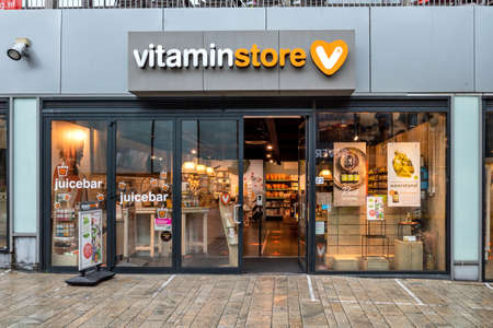 Vitaminstore branch in Almere, The Netherlands. Vitaminstore has been the healthiest retailer in the Netherlands since 1998, with 34 stores and an online shop.
