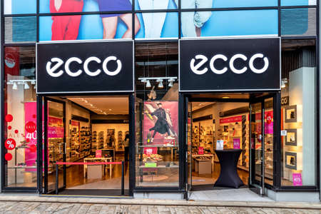 ECCO branch in Almere, The Netherlands. ECCO Sko A/S is a Danish shoe manufacturer and retailer founded in 1963 by Karl Toosbuy in Bredebro, Denmark.