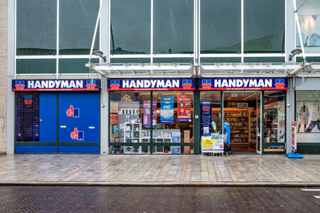 Handyman shop in Almere, The Netherlands. Handyman is a Dutch specialist in parts and accessories for household appliances. Editoriali
