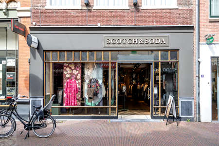 Scotch & Soda store in Amersfoort, The Netherlands. Scotch and Soda is a Dutch fashion retail company founded in 1985.