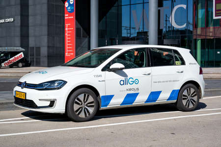 Keolis allGo Volkswagen e-Golf service car in Almere, The Netherlands.