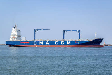 Container Ship CMA CGM MARSEILLE. CMA CGM S.A. is a French container transportation and shipping company.
