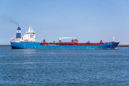 chemical/oil tanker BRO NORDBY inbound Amsterdam Archivio Fotografico - 155379134