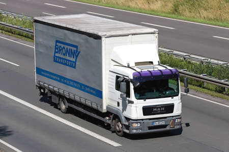 Bronny MAN TGL truck on motorway.