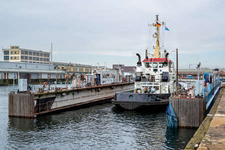 tugboat MARS in floating dock Editoriali
