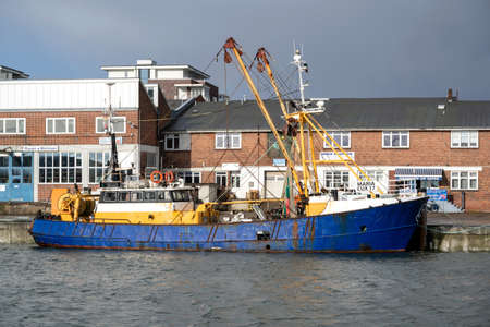 fishing vessel MARIA in the port of Cuxhaven, Germany Editoriali