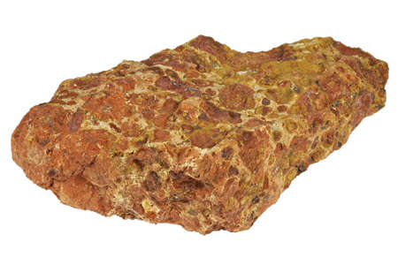 bauxite from Les Baux, France isolated on white background