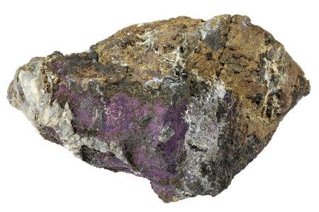 purpurite from Sandamab, Namibia isolated on white background