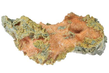 red gypsum from Werfen, Austria isolated on white background Archivio Fotografico
