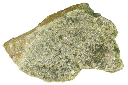 lizardite from Norway isolated on white background