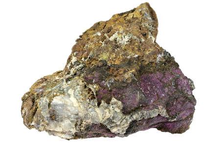 purpurite from Sandamab, Namibia isolated on white background Archivio Fotografico