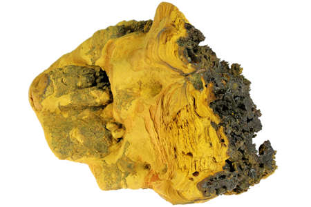 limonite from Trinidad Mine, Spain isolated on white background