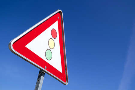 German road sign: traffic signals
