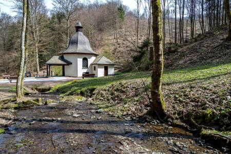 Waldenburg chapel at the Biggesee reservoir near Attendorn, Germany