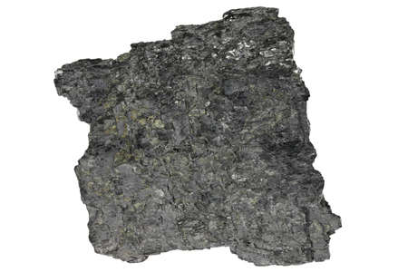 graphite from Sunk, Austria isolated on white background