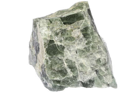 apatite from Risor, Norway isolated on white background Archivio Fotografico
