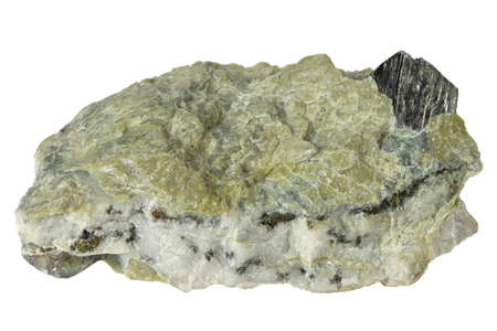 arsenopyrite from Muehlbach, Austria isolated on white background Archivio Fotografico