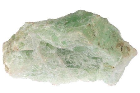 fluorspar from Nabburg, Germany isolated on white background Archivio Fotografico