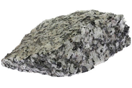 granite from Hauzenberg, Germany isolated on white background