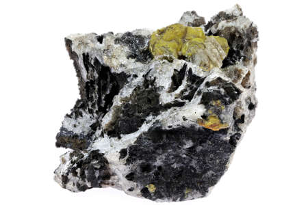 campylite from Dry Gill Mine, Cumbria, England isolated on white background