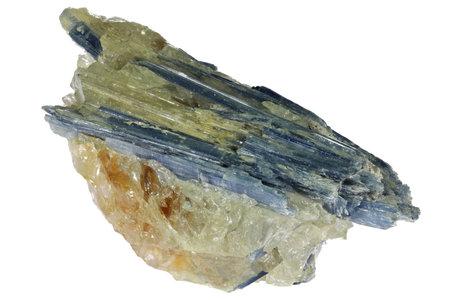 kyanite from Minas Gerais, Brasil isolated on white background Standard-Bild