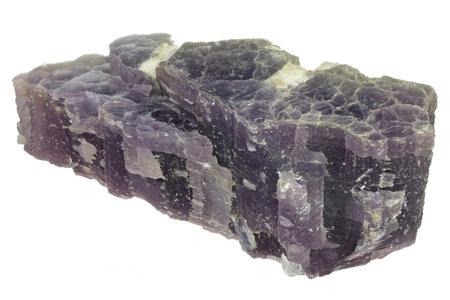 lepidolite from Minas Gerais, Brasil isolated on white background