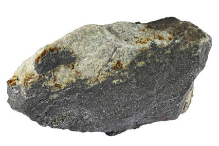 magnetite from Kiruan, Sweden isolated on white background Archivio Fotografico