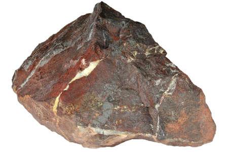 bloodstone from Wabana, Canada isolated on white background Archivio Fotografico