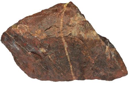 bloodstone from Wabana, Canada isolated on white background Standard-Bild