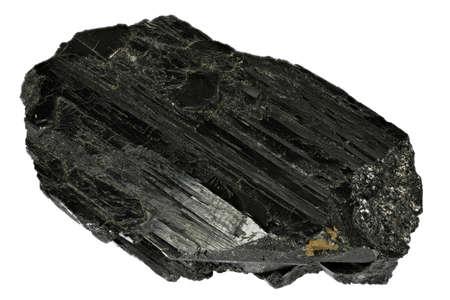 wolframite from Kara Oba, Kazakhstan isolated on white background Archivio Fotografico