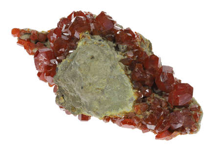 wulfenite from Mexico isolated on white background