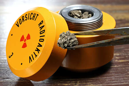 radioactive material in lead container