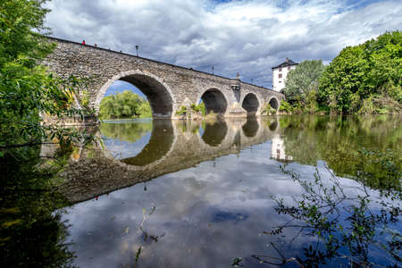 old Lahn bridge in Limburg, Germany
