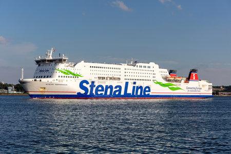 Stena Line ferry STENA GERMANICA in the Kiel Fjord
