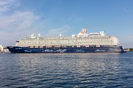 TUI cruise ship Mein Schiff 6 in the Kiel Fjord