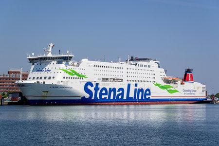 Stena Line ferry STENA GERMANICA in the port of Kiel