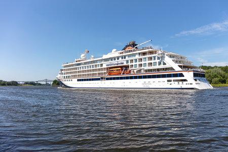Hapag-Lloyd cruise ship HANSEATIC INSPIRATION in the Kiel Canal