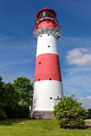 Falshoeft lighthouse at the Baltic Sea coast in Schleswig-Holstein, Germany